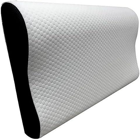 Pikolin Home Essential - Almohada viscoelástica ergonómica, con doble funda, acabado Aloe Vera, firmeza media - baja, 30 x 50 x 7 - 11 cm