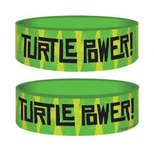 1art1 77007 Teenage Mutant Ninja Turtles - Turtle Power Armband 6 x 2 (Power Ninja Turtle)