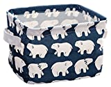 Back Packers Jewelry Cosmetic Linen Desk Storage Box Holder Stationery Organizer Case