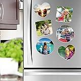 Kühlschrankmagnet mit Fotodruck - Fotomagnete selbst gestalten - Kühlschrankmagnete mit individuellem Motiv selbst gestalten- Magnet mit Foto bedrucken lassen- Form: Rund Set von 4 Stück