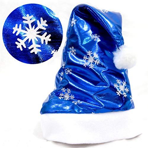 ihnachtsmann Hüte Helle Tuch Blaue Kappen Für Erwachsene Und Kinder Dekor Großhandel Neujahrsgeschenke Home Party Supplies ()