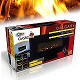 Camino Elettrico Stufa Classic Fire Camino con Telecomando Effetto Fuoco da Tavolo o Parete 1400W Colore Nero