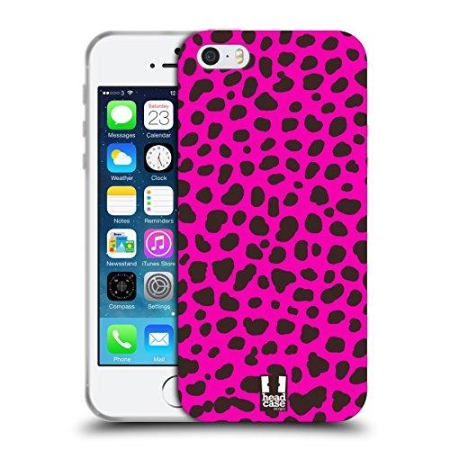 pard Rosa Verrückte Drucke 2 Soft Gel Hülle für Apple iPhone 5 / 5s / SE (Geparden-print-pink)