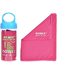 Romix refrigeración Toalla de fitness y toalla de manos deportiva Eiskalt, absorbente, secado rápido, streichelweich 30 x 90 cm, morado