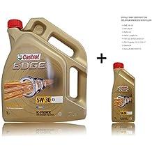 1 L + 5 L = 6 litros de Castrol Edge Titanium FSTTM 5W-30 C3 Motor-Öl Motoren-Öl; especificaciones/Freigaben: ACEA C3; API SN/CF; BMW Longlife-04; dexos2®*|MB-liberación 229.31 / 229.51|Renault marginal 0700 / marginal 07