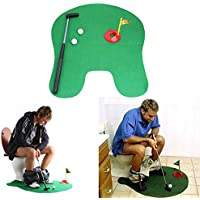 KOBWA WC, drôle Potty Putter de Golf Funny Golf Jouet, Jeu de Golf Intérieur Practise, Perfect Mini Golf Novelty Gag Coffret Cadeau Mari Père