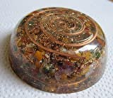 Healing Crystals India Orgone Energy Chakra Plateau de Chargement réversible avec Protection EMF