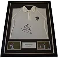Sportagraphs Ian Botham SIGNED FRAMED Shirt Photo Autograph Cricket Sport AFTAL COA Perfect GIFT