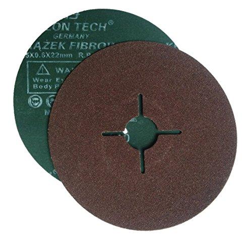 Falon Tech 20 Stück Fiberschleifscheiben für Winkelschleifer Korn 120 (Mm 125 Fiber)