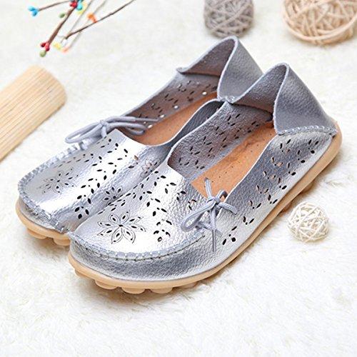 Pantofole Da Donna Tezoo Mocassini Scarpe Da Barca Scarpe Basse ... 563d0b92124