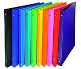 Exacompta 511999E opaco PP flessibile Covers raccoglitore ad anelli A4-multicolore (confezione da 10)