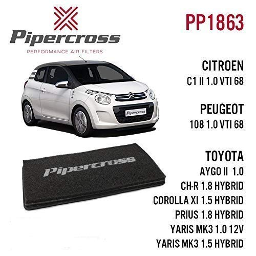 Pipercross Filtre à air pour Citroen Peuge Toyota Aygo Pp1863