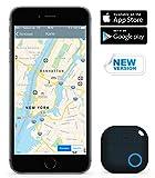 Qwer App Schlüsselfinder / Key Finder (schwarz), NEUE VERSION 2 | 3x lauter | Schlüssel, Handy, Fernbedienung, Portmonee sofort finden: Mit dem verbesserten iTrack sparen Sie kostbare Zeit und schonen Ihre Nerven |perfektes Geschenk / Geschenke| Smartphone Bluetooth-GPS-Kopplung