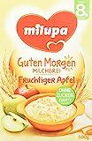 Milupa Guten Morgen Milchbrei Fruchtiger Apfel ab dem 8. Monat, 4er Pack (4 x 500 g)