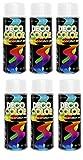6er Sparpack DC Lackspray glänzend 400ml nach RAL freie Farbauswahl (6 Dosen in weiss glanz RAL 9010)