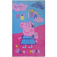 CTI 044215 – Toalla de playa Peppa Pig Holiday algodón rosa 120 ...