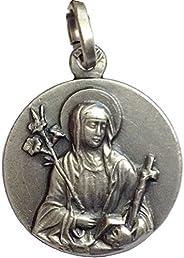 "Medaglietta""Santa Caterina da Siena"" in Argento 925 millesimi - 925 Sterling Silver"" Saint C"