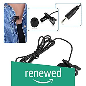 (Renewed) Boya BYM1 Omnidirectional Lavalier Condenser Microphone with 20ft Audio Cable (Black)