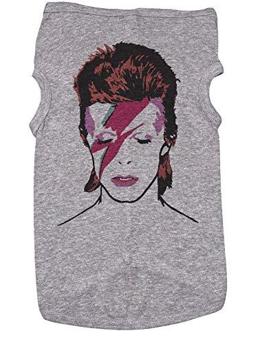 Baffle David Bowie Shirt für Hunde/Bowie/Ziggy Stardust/Bowie, 2XL, grau