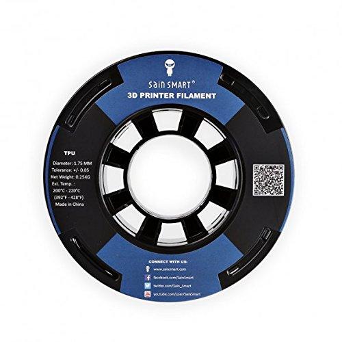 SainSmart petites dimensions Bobine Filament 1.75mm TPU Flexible 3D 250g, précision de +/-0,05mm, Shore 95A (Noir)