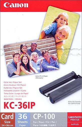 *Canon KC-36 IP 5,4 x 9,0 cm Scheckkartengroßes Papier für Selphy Drucker*