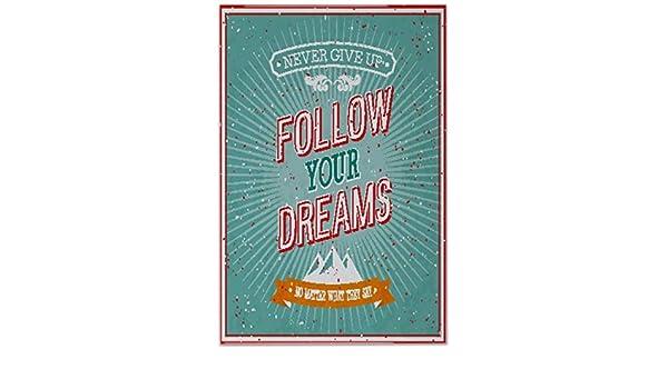 Piastrella proverbi segui i tuoi sogni ceramica stampato cm