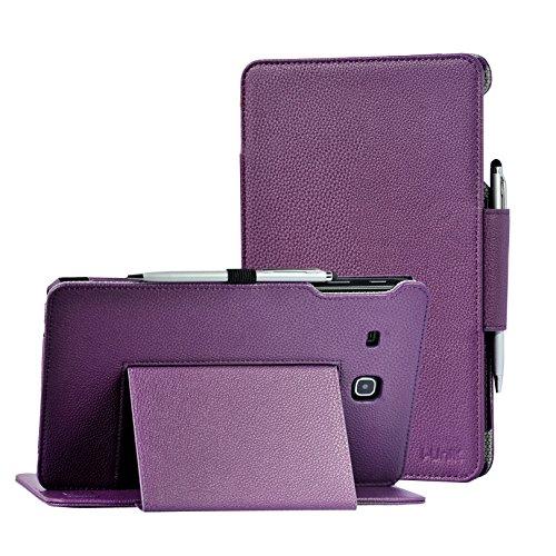 TAB E 8.0Fall, Samsung Galaxy Tab E 20,3cm sm-t377Sprint/US Cellular 4G LTE Case Schutzhülle durch i-unik Slim Folio Fall [Bonus Stylus] violett Sprint Cellular