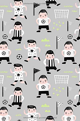 Fussball Muster - Torhüter Stürmer Fans Verein 25: Unliniertes Notizbuch mit Rahmen für Fußballspieler und Fußballfans -