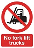420 x 297mm No Forklift Trucks - Rigid Plastic Safety Sign
