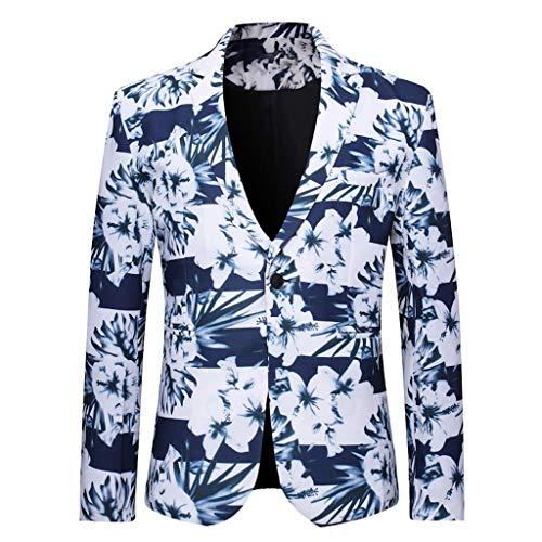 Sylar Blazer Casual Hombre Otoño Invierno Chaquetas de Traje Estampado Floral Blazer Slim...