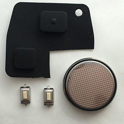 DIY-Reparatur-Set-für Toyota 2Tasten Fernbedienung Schlüsselanhänger-Gummi Pad 2Schalter & CR2016-Batterie (Pad-schalter)