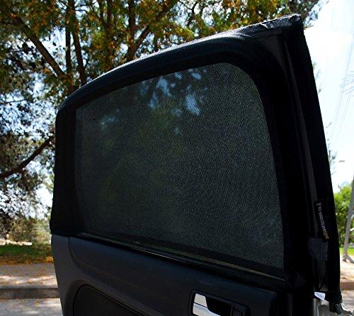 LRB Auto sun screen Rectangular Window Car Sunshades, Large, Black, Set of 2
