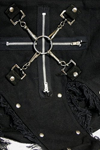 Dark Dreams Gothic Punk Mittelalter Tasche Comitis, Farbe:schwarz - 3