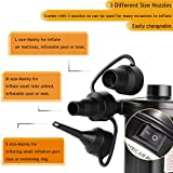 Gochange Electric Pump DC/AC Electric Air Pump With 3 Attachments for Air Mattress Inflatable Boat, beds, Inflatable Swimming Animals or Camping – Automatic & Quick Pumping 12 * 10 * 8 cm -