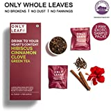 Onlyleaf Hibiscus Cinnamon Clove Green Tea, 25 Tea Bags With 2 Free Exotic Samples