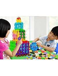 Reixus (TM) 120pcs / Set de construction flocon de neige en plastique color¨¦s blocs pour enfants meilleurs jouets de No?l pour les gar?ons et les filles