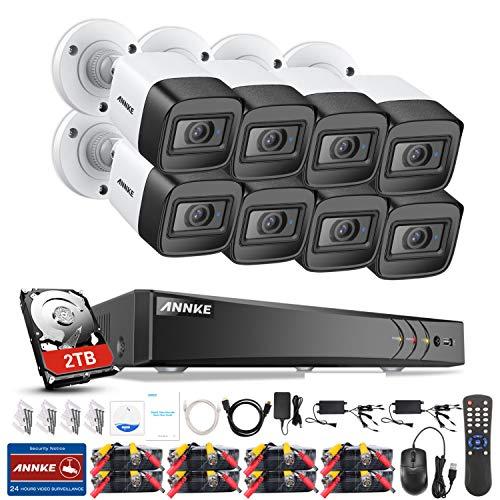 ANNKE 8CH 8MP 2160P Ultra HD Überwachungskamera System 2TB HDD 8 Kanal 8MP HDMI DVR Recorder mit 8 Wetterfest 8.0Megapixel(4K) Außen Video Kamera Set Bewegungsmelder 30M IR Nachtsicht -