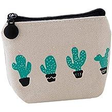 Demarkt Billetera Monedero Impresión de Cactus Bolso Bolsa de Viaje Bolsa con Cierre Bolsa Bolsa de