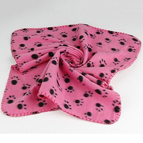 iknowy 40x 60cm Hund Handtuch Cute Floral Pet Warm Pfotenabdruck Hund Puppy Baumwolle Weiche Decke Matte