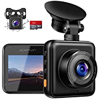 APEMAN Dual Lens Dash Cam for Cars Front and Rear with Night Vision and SD Card Included, 1080P FHD Mini Car Camera, 170°Wide Angle Driving Recorder with G-Sensor, Parking Monitor, Loop Recording, WDR 25