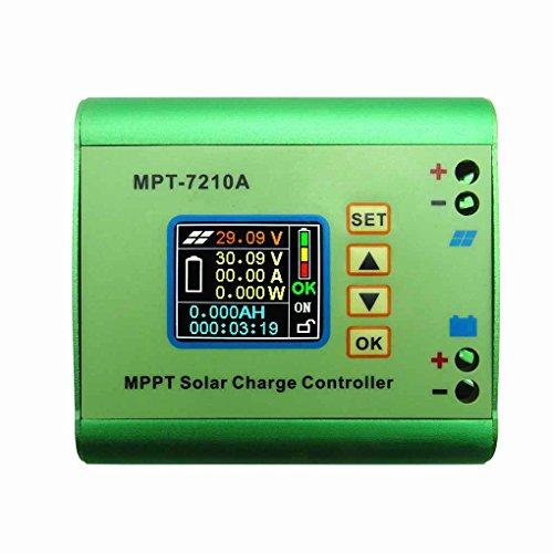 Regulador de carga del regulador de la batería del panel solar de MPT-7210A MPPT con la exhibición del LCD para la batería 24/36/48/60 / 72V (precio: 37,44€)
