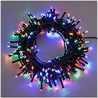 Catena 7,5 m, 180 led multicolor, con giochi di luce, cavo verde, EX Best Value, luci di Natale, luci per l'albero di Natale, luci colorate