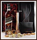 Geschenk Johnnie Walker Green Label 15 Jahre Whisky + Flaschenportionierer + 10 Edel Schokoladen von DreiMeister & DaJa + 4 Whisky Fudge kostenloser Versand