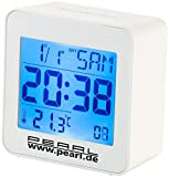 PEARL Reisewecker: Kompakter Digital-Funkwecker mit Temperaturanzeige und Kalender (Funk Wecker mit Thermometern)