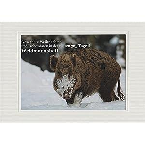 Jagdliche Weihnachtskarte, Textkarte mit Motiv, von Handmadegruss edel, zeitlos, klassisch. Die Top neue Jagd Weihnacht!