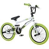 18 Zoll BMX deTOX Freestyle Kinder BMX Anfänger ab 120 cm, 6 J., Farbe:weiss/grün