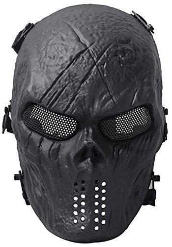 Skull Paintball MaskeMaske Halloween Masken für Männer ()