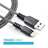 #8: 1m Apple MFi Certified Nylon Braided Original Mivi Tough Lightning Cable for iPhone, iPad and iPod, Super fast charging up to 2.4Amps (Black)