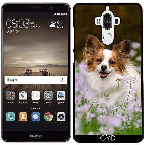 Hülle für Huawei Mate 9 - Papillon Hund Niedlich Porträt by Katho Menden