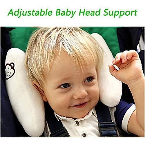 letton verstellbar Baby Soft Head Neck Support-Kinder Reise Auto Sicherheit Kissen, Banana U-Form Buggy Kopf Unterstützung für Kleinkinder Kinder Kind Beste Geschenk-Weiß